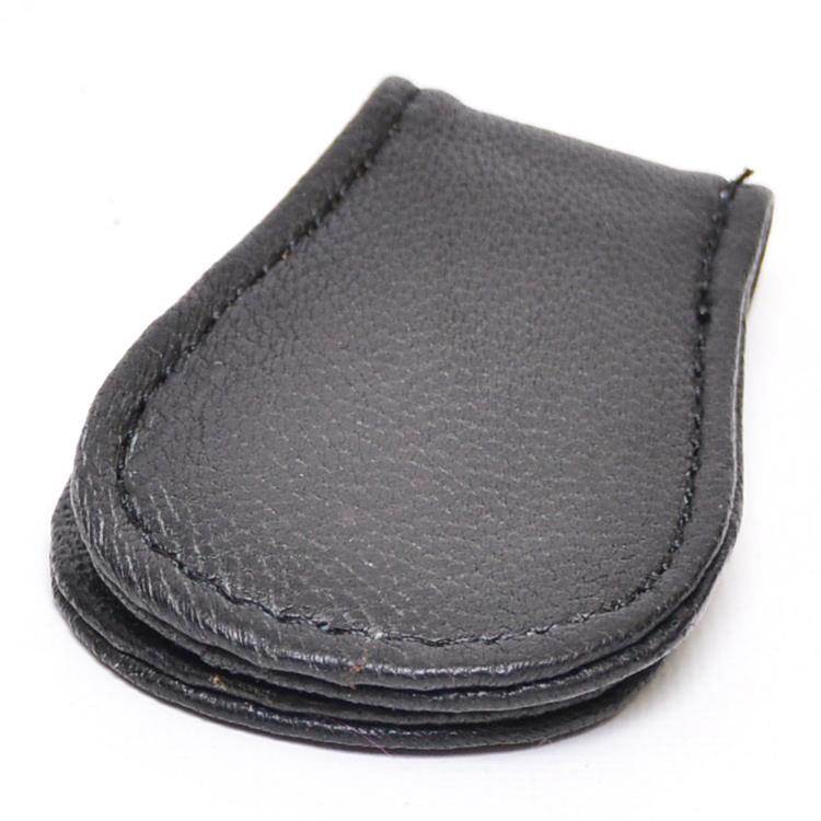 Genuine Leather Money Clip Black