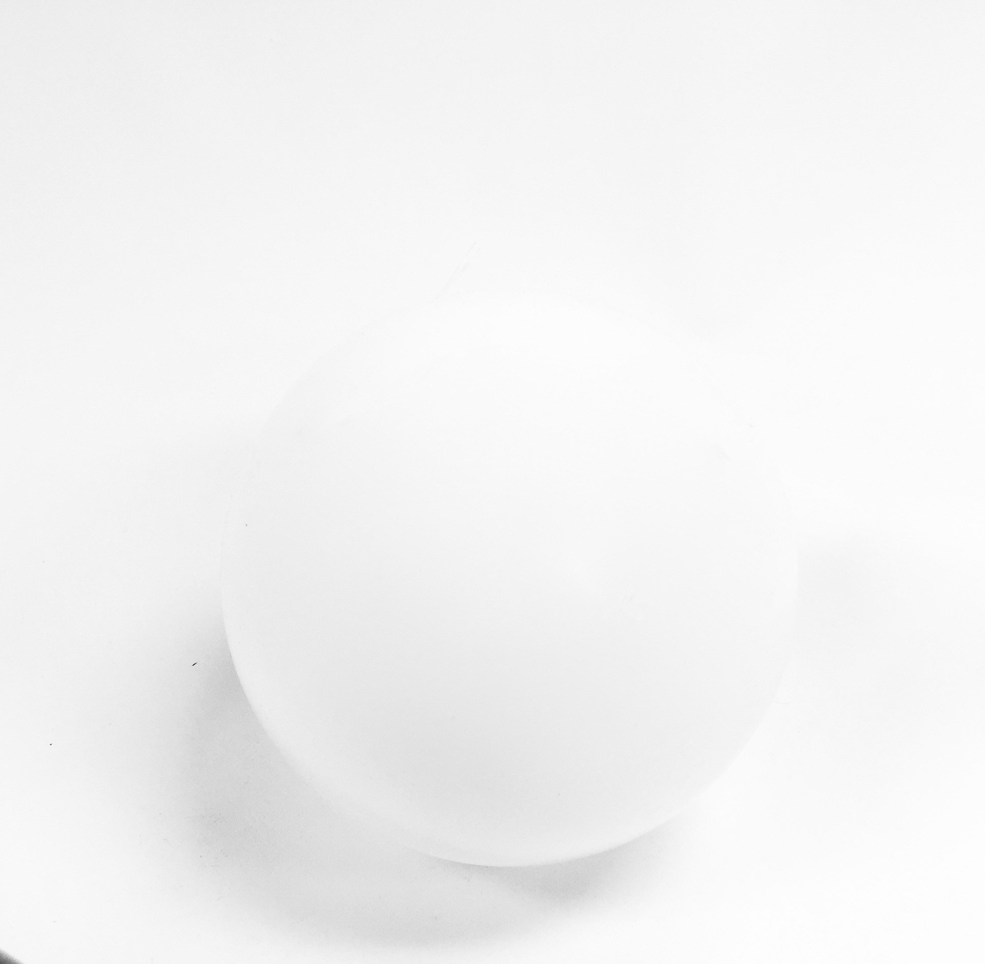 Glass Sphere White 4""