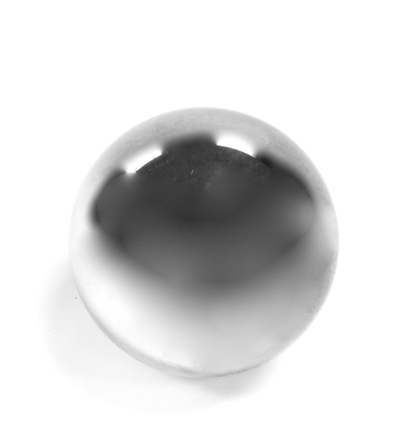 """Glass Sphere Silver 6"""""""