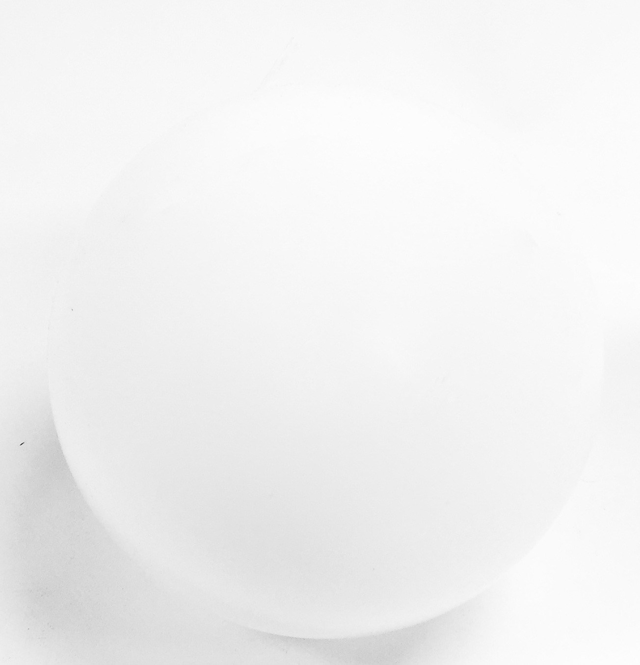 Glass Sphere White 8""
