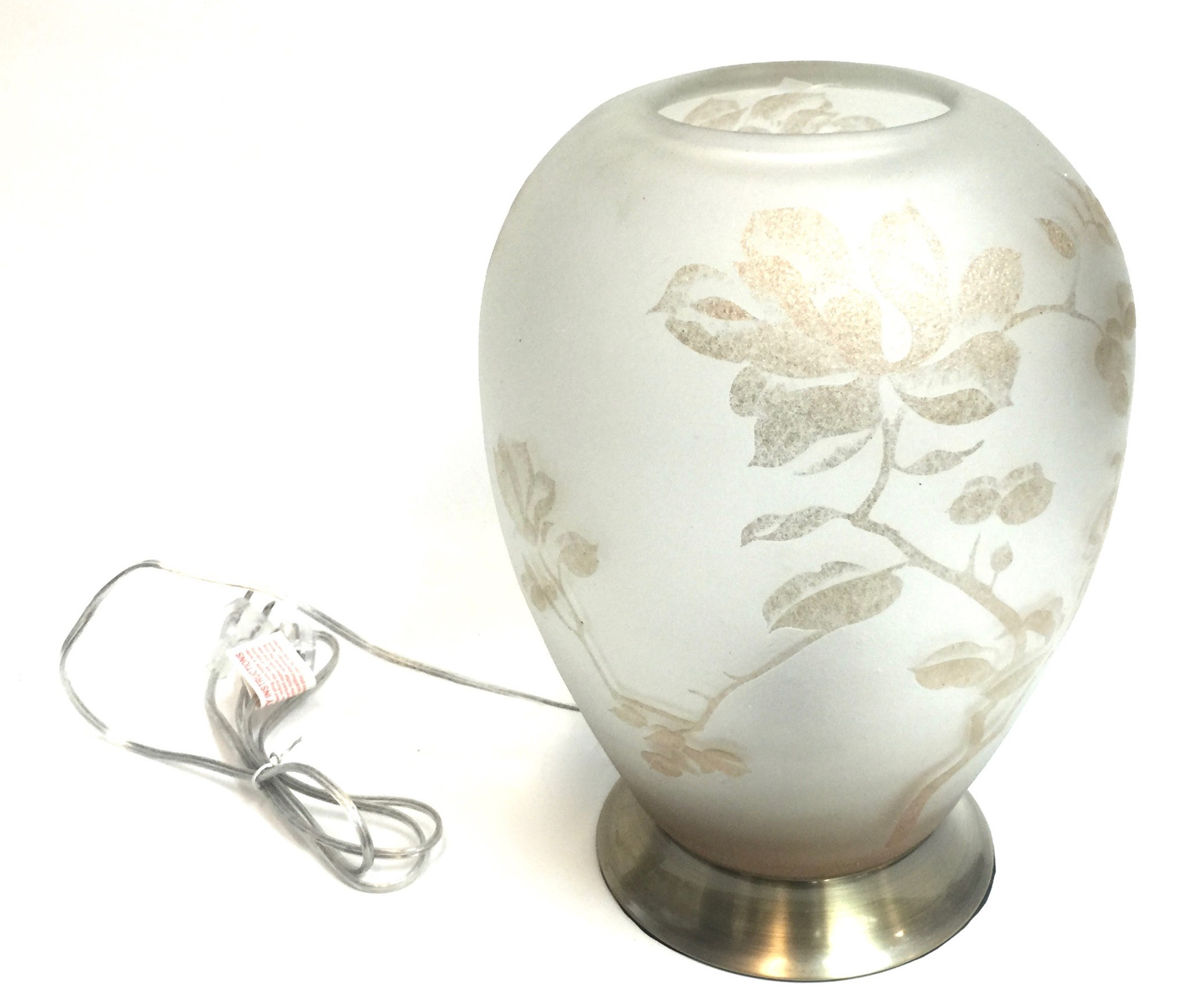 "14"" Frosted Gold Flower Lamp"