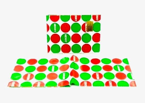 Flat Wrap 2 Sheets 20X30 - XMAS DOTS