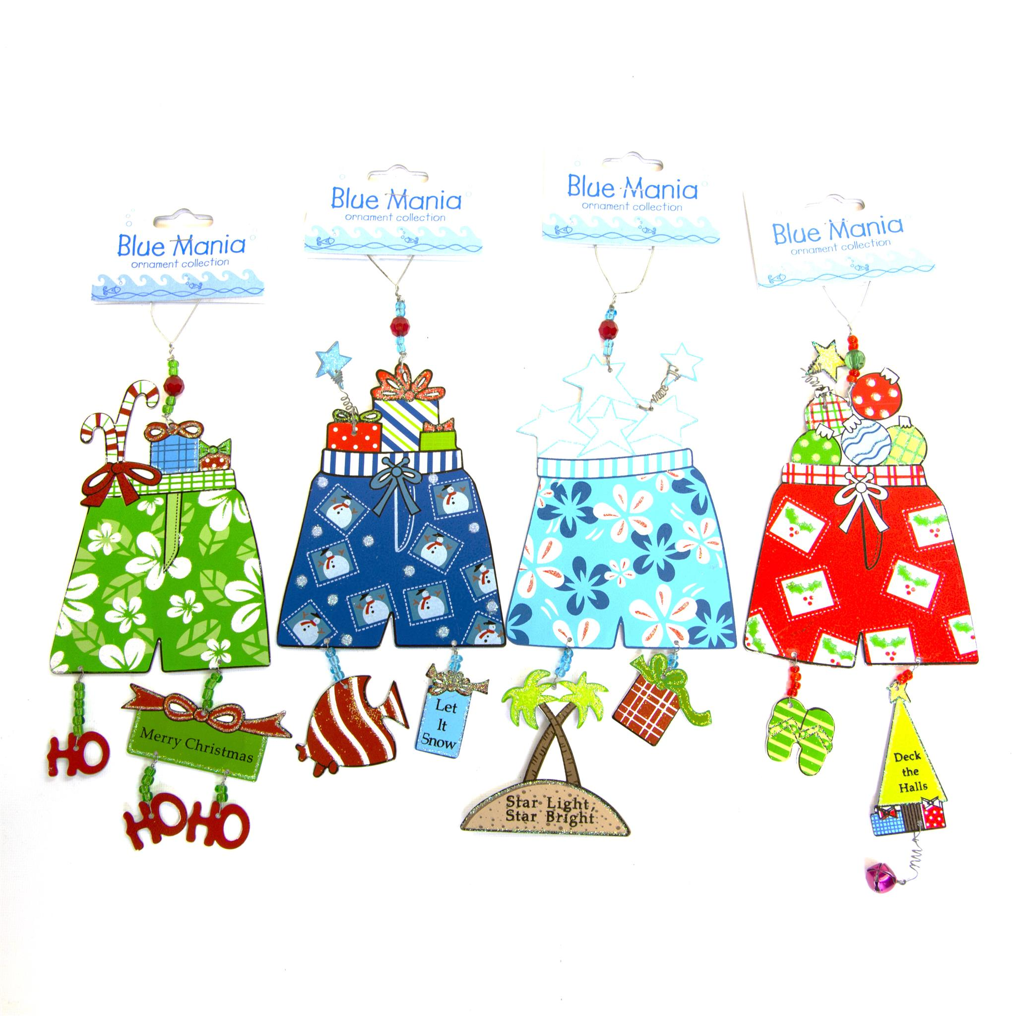 Blue Mania Ornament - Swim Trunk Set/4