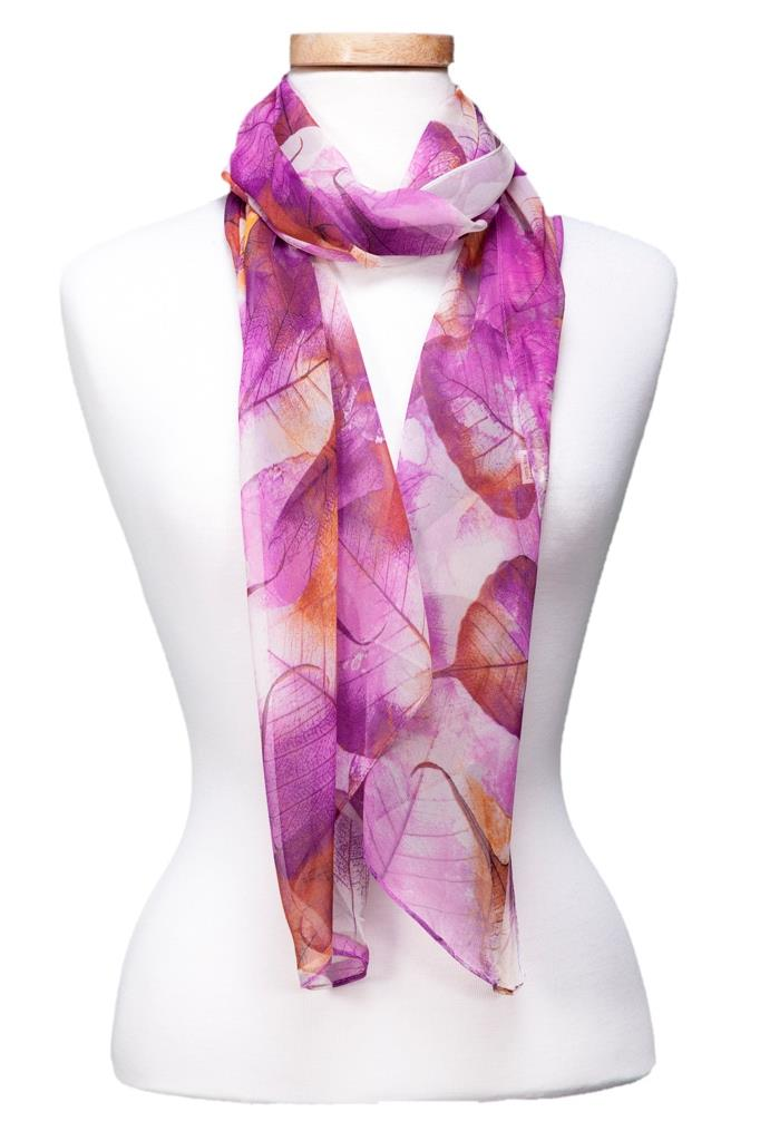 Fall Leaves Scarf asst