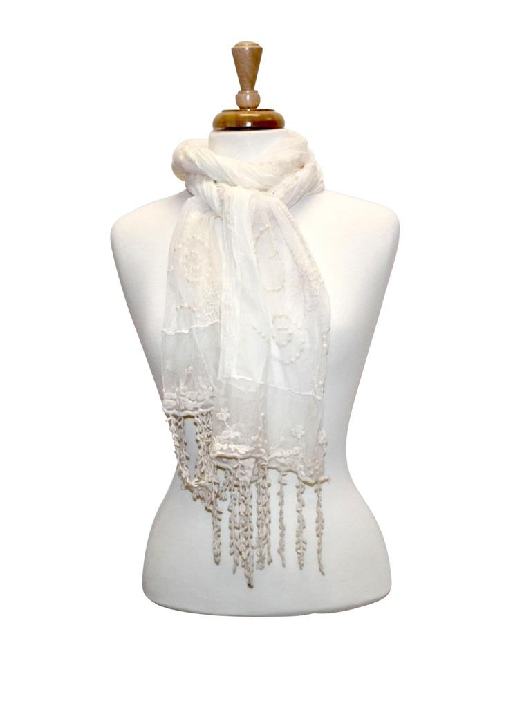 Colorful Vintage Lace Scarf asst*