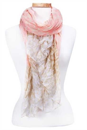 Soft Crinkle Animal Print Scarf Asst