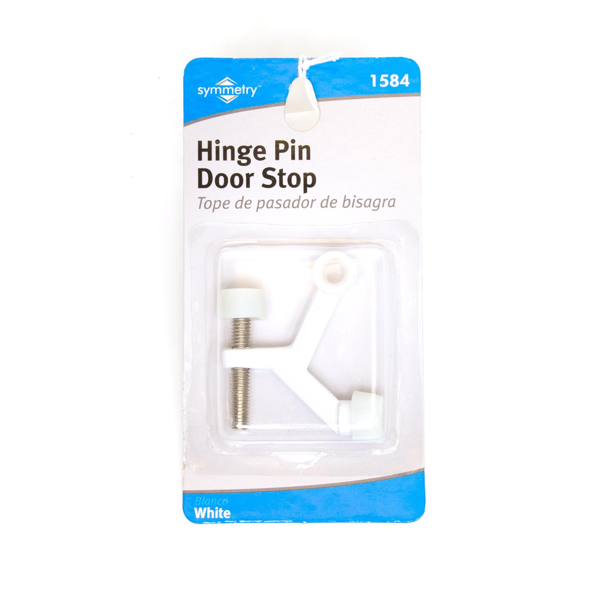Door Stop Hinge Pin White