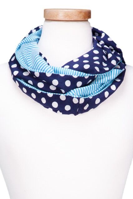Dots & Stripes Infinity Scarf RED