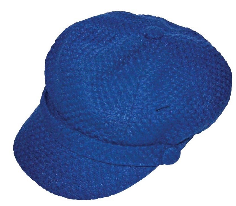 Solid Winter Weave Hat Blue
