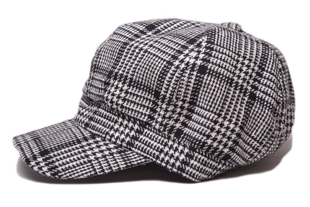Houndstooth Plaid Hat