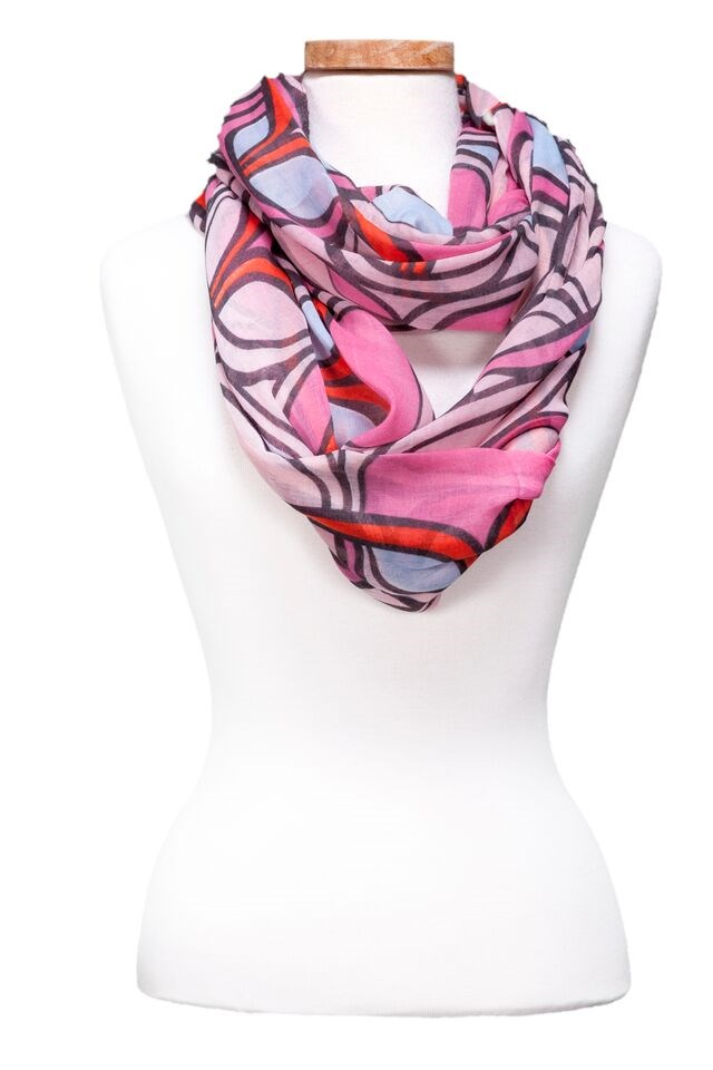 Colorful Chain Infinity Scarf Asst