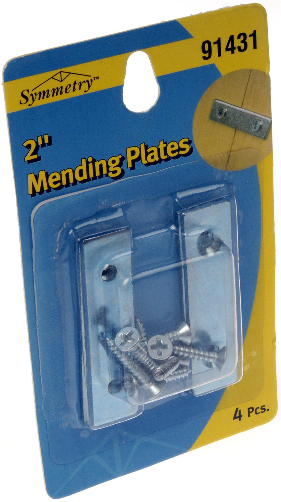 """Mending Brace 2x1/2"""" Zinc"""