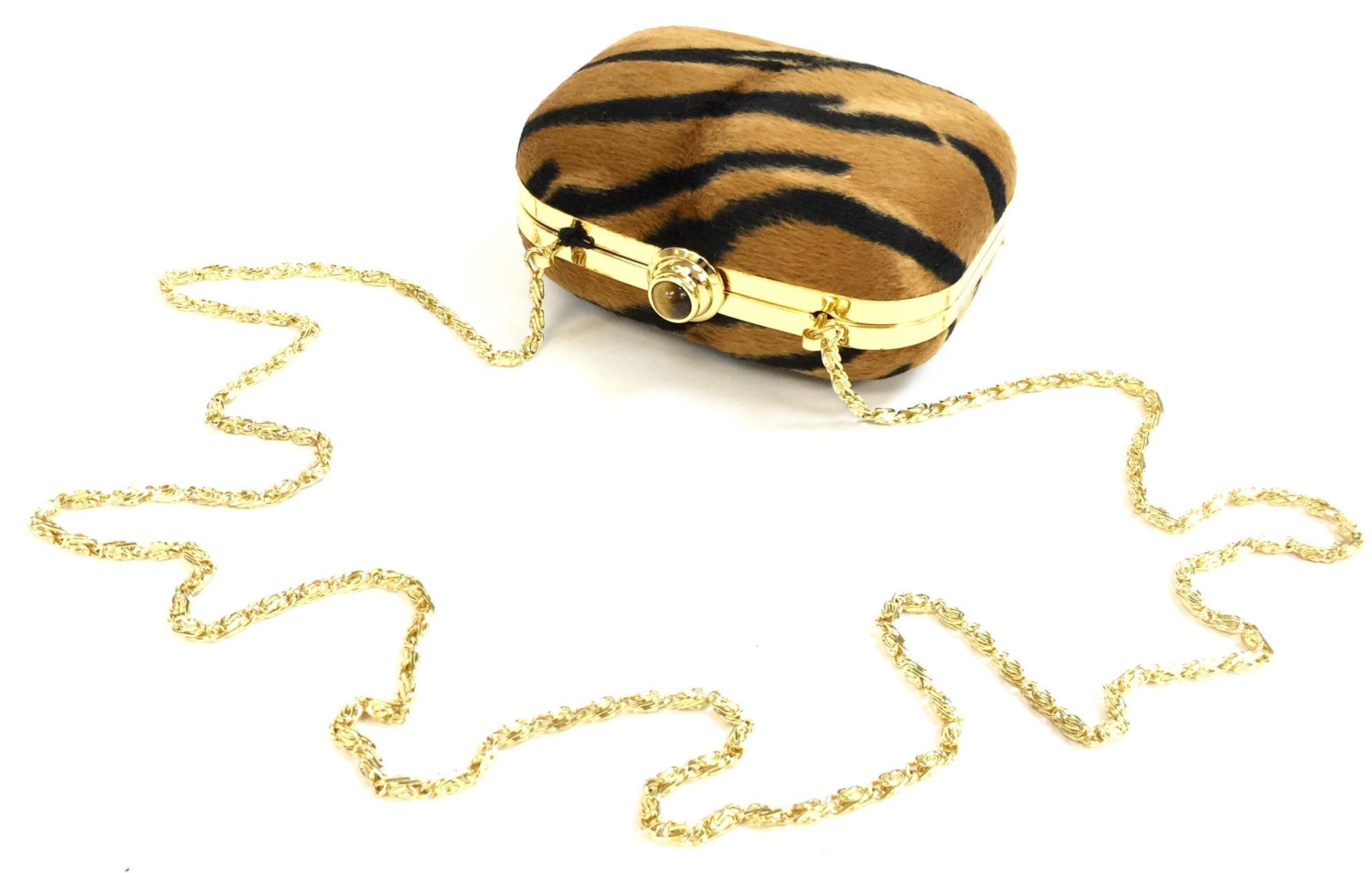 Gold Tiger Evening Bag