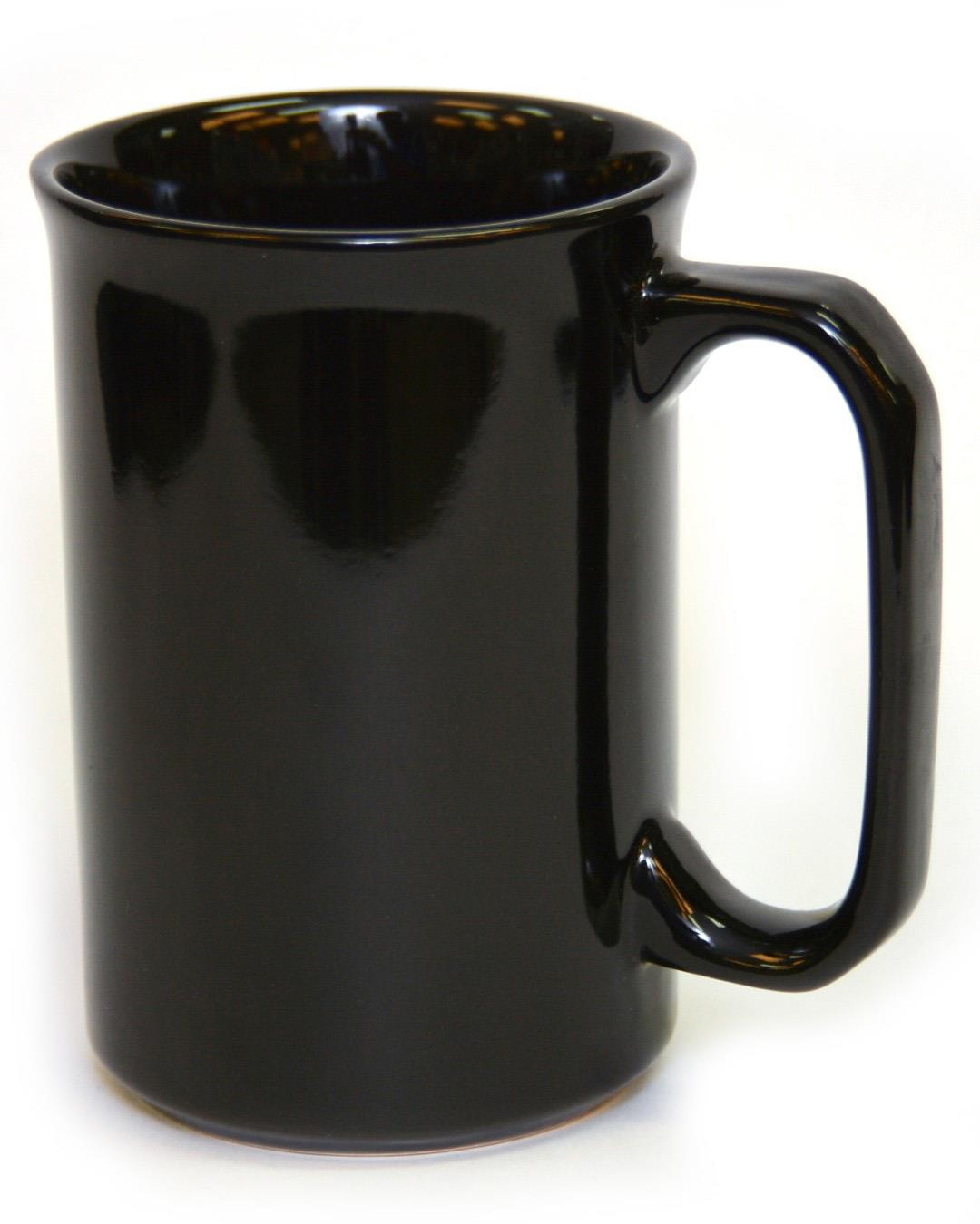 12 Ounce Ceramic Mug - Black