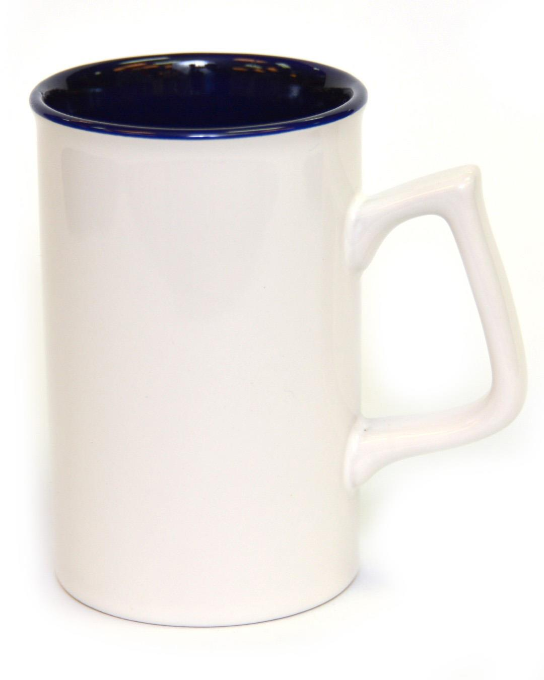 12 Ounce Ceramic Mug - W/CB White/Blue