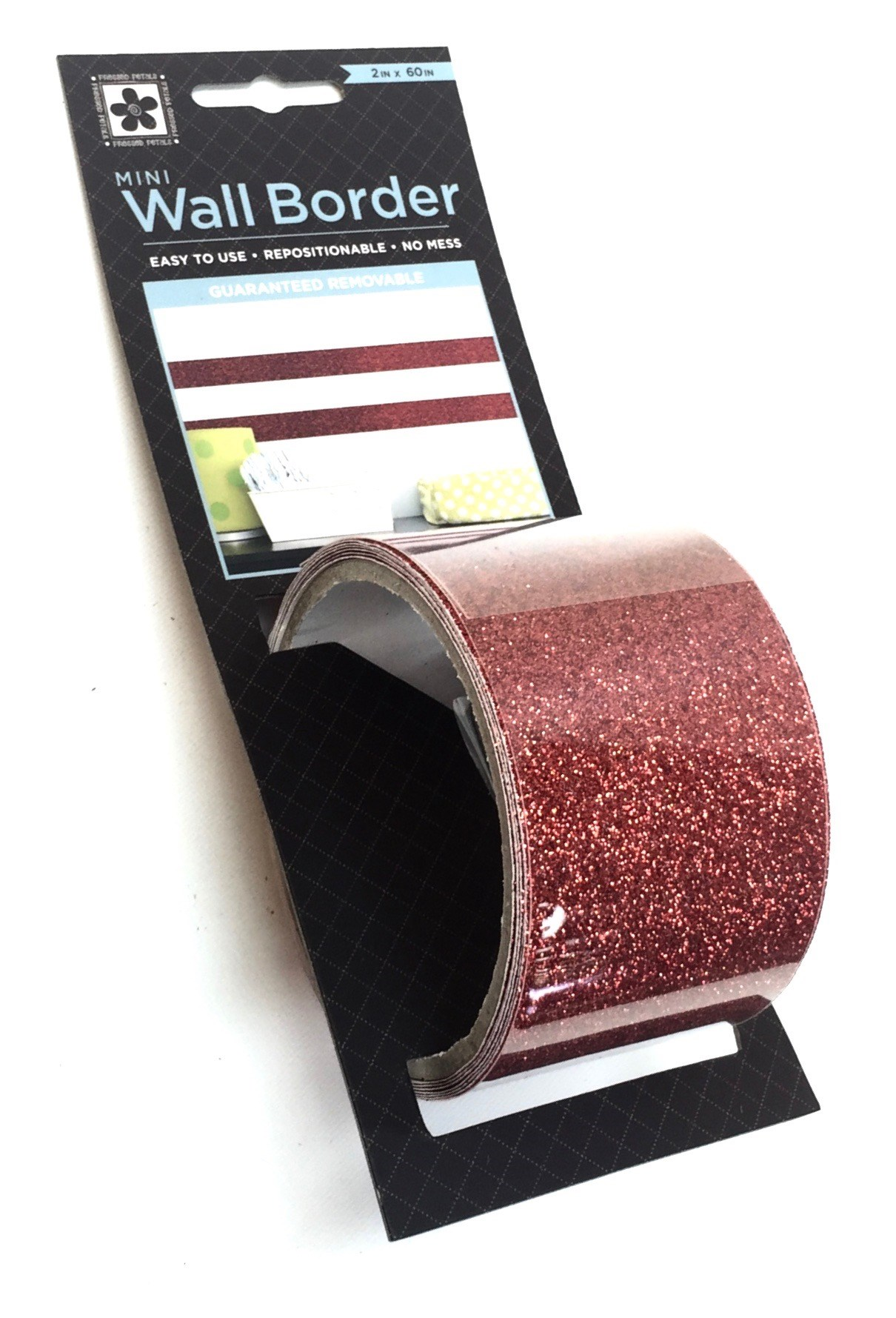 Solid Red Glitter Trim
