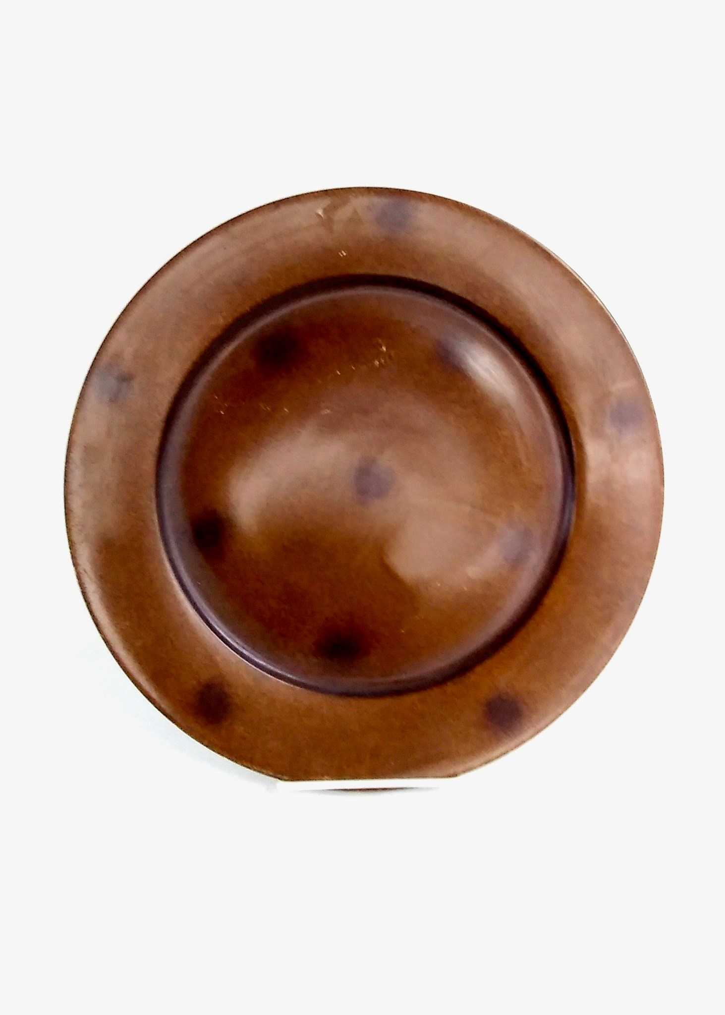 "12"" Brown Decorative Plate"
