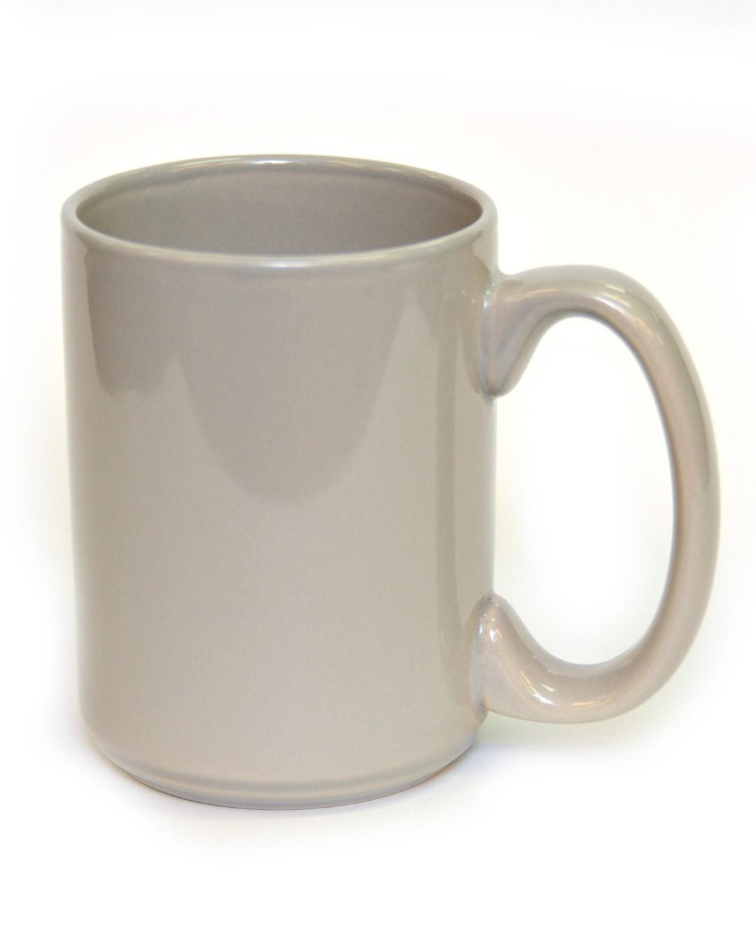 15 Ounce Coffee Mug Grey