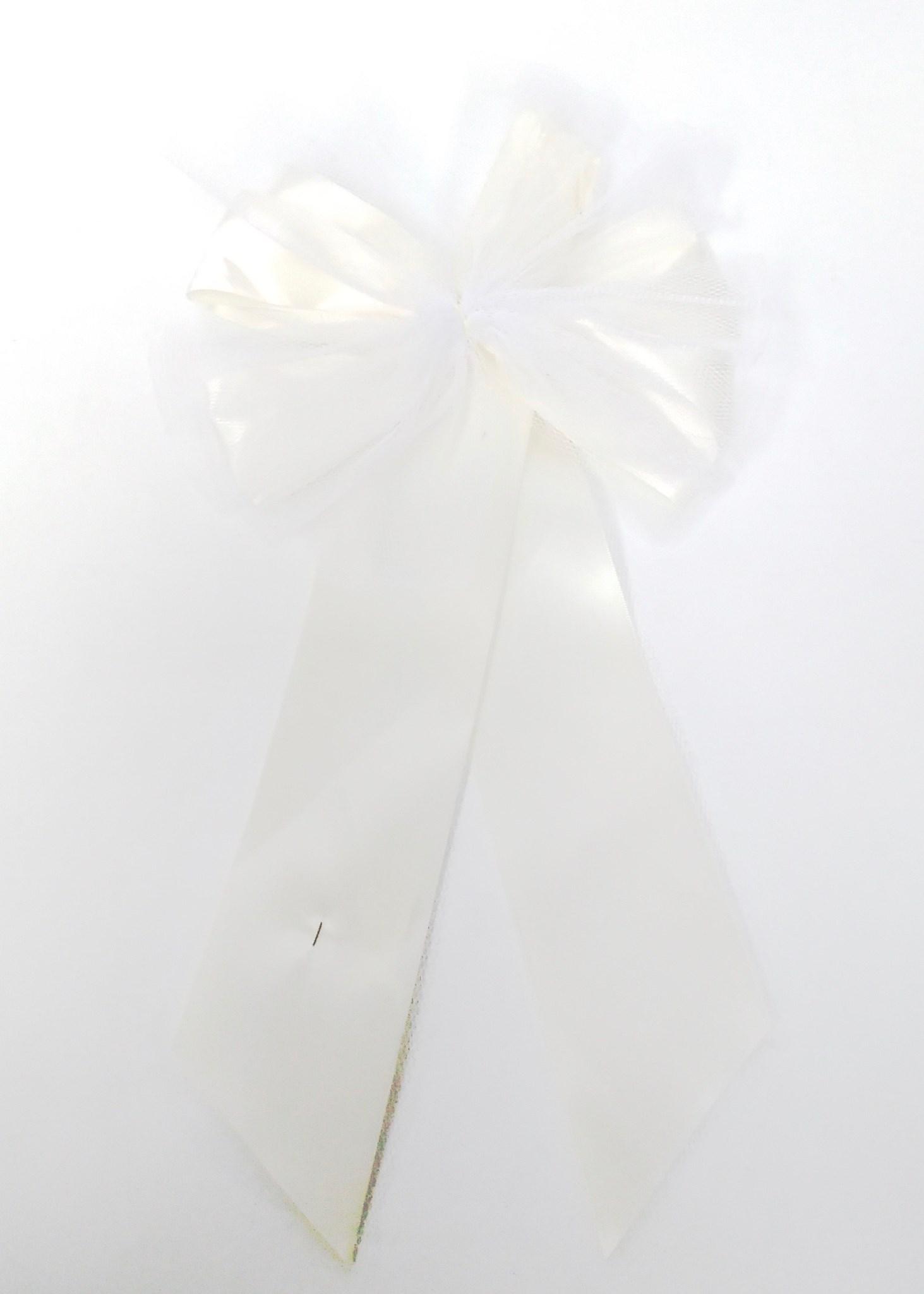 Ivory Satin Bow