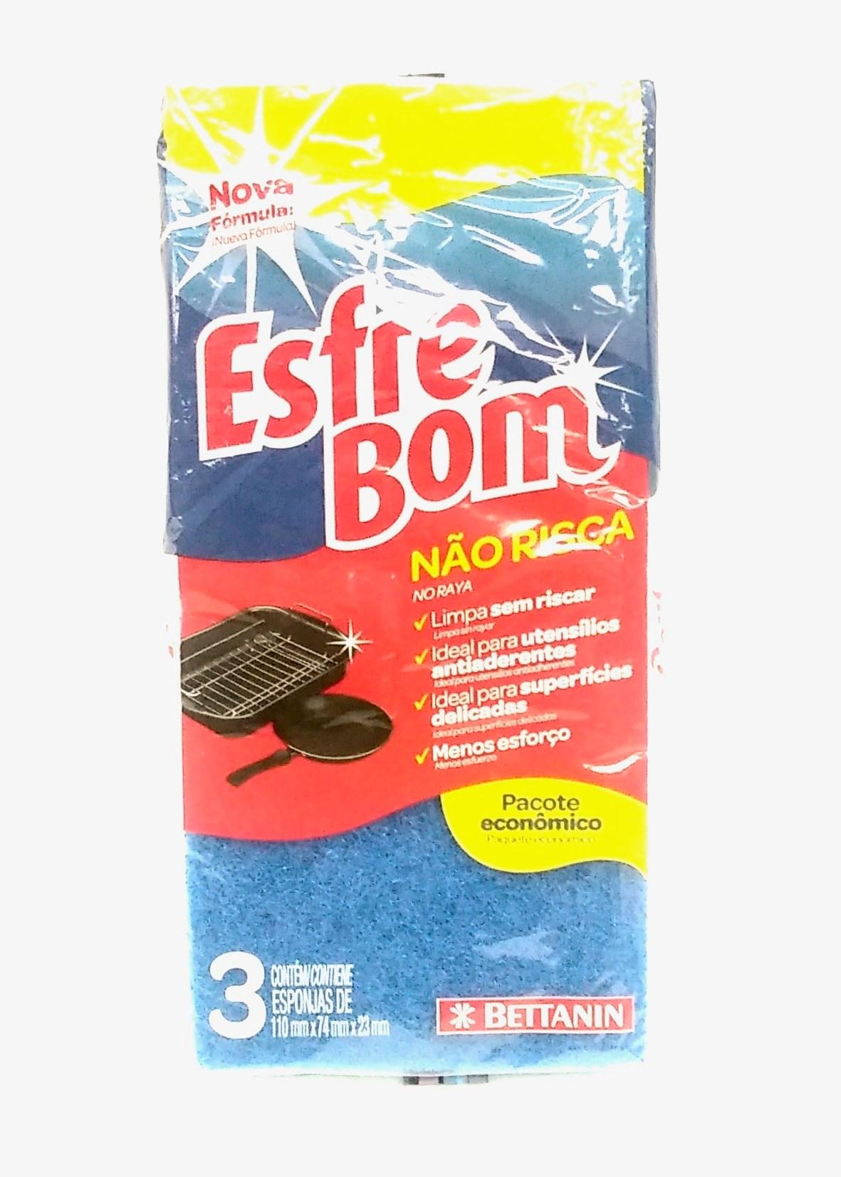 Esfrebom Sponge Non Scratch w/3 Abrasive