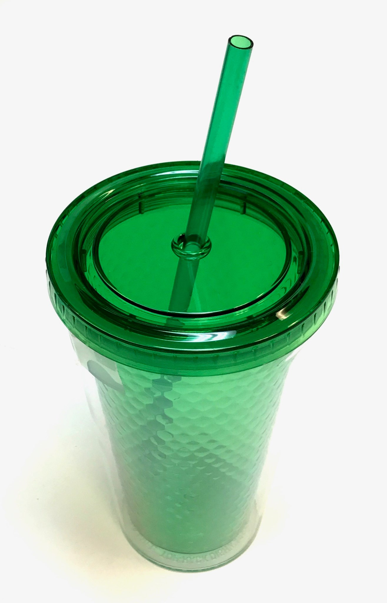 Double Wall Tumbler W/Straw Green