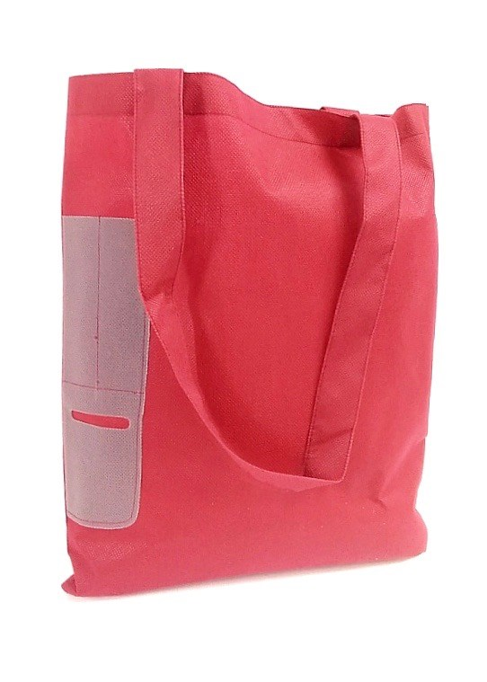 Side PocketTote Deep Red