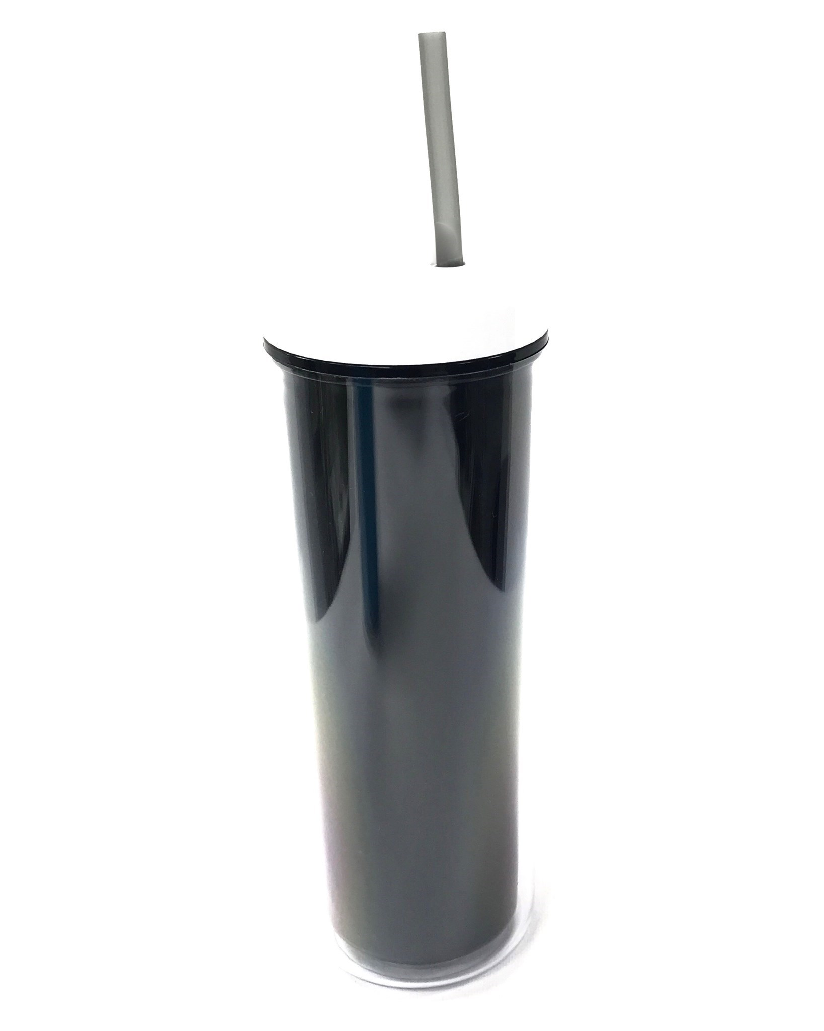 (0017503) Ava Slender Tumbler 17 Oz - Black/White