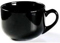 (22-05) Ceramic Latte Mug Black