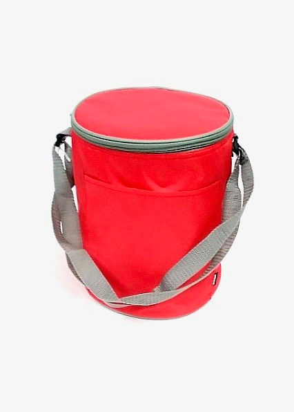 Koozie Round Cooler - Red