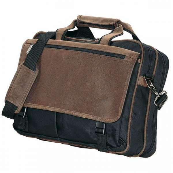 15144 Kodiak Eclipse Briefcase Brown/Black