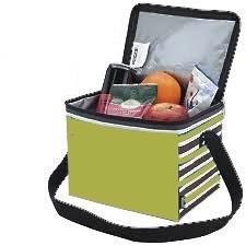 0057071 Koozie Modern Twist Six-Pack Kooler Apple Green/Stripe