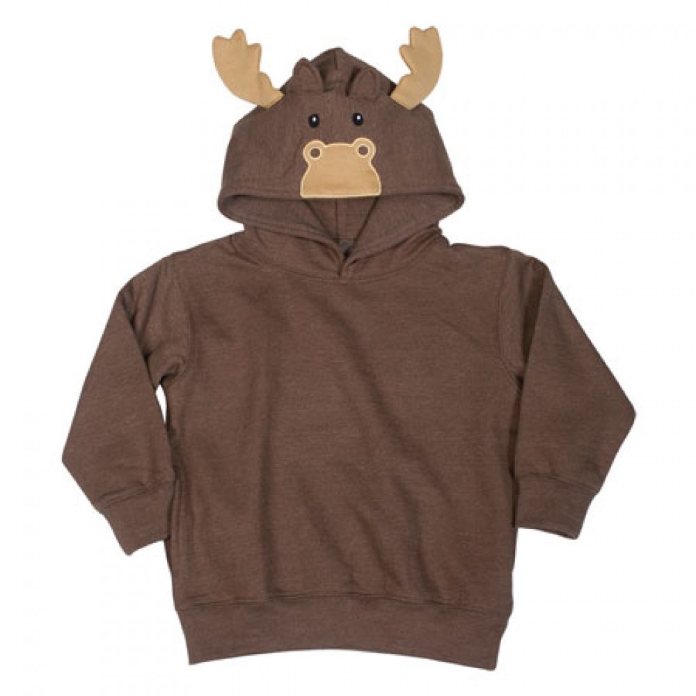 Toddler Animal Hoodie - Brown Moose