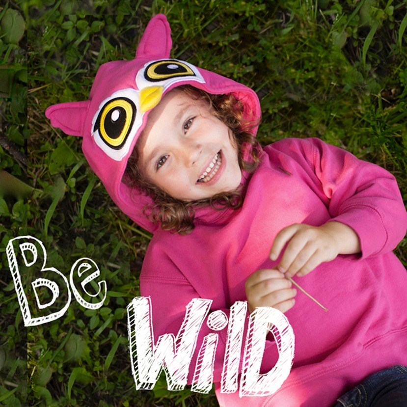 Toddler Animal Hoodie - Pink Owl