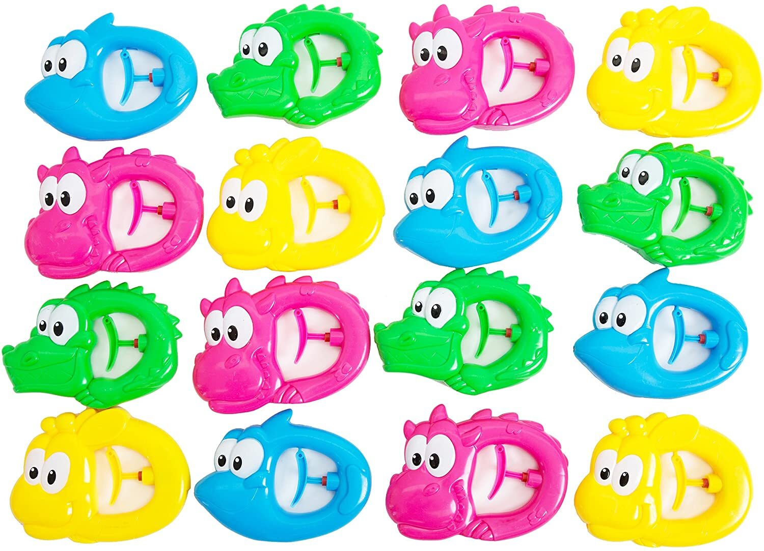 16 Pc Pack Animal Squirters