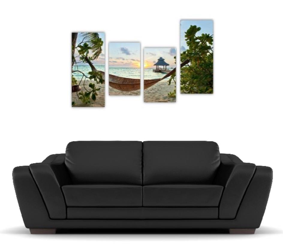 4 Pc Canvas Art Set - Hammock