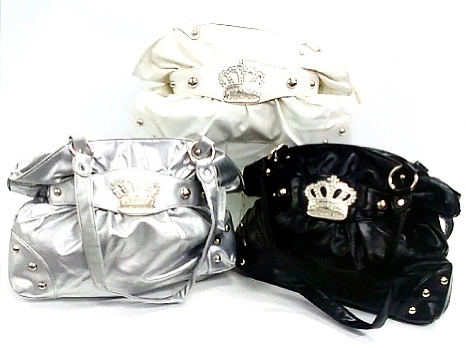 Handbag w/Crown Asst