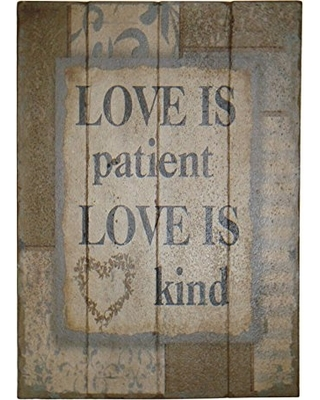 20x28 Love is Patient Wood Sign