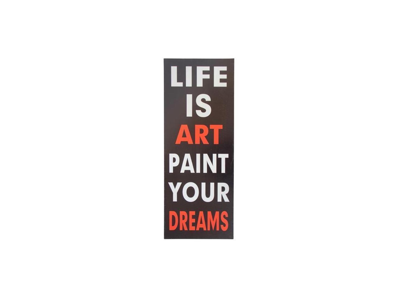 13x35 Life is Art Wall Art