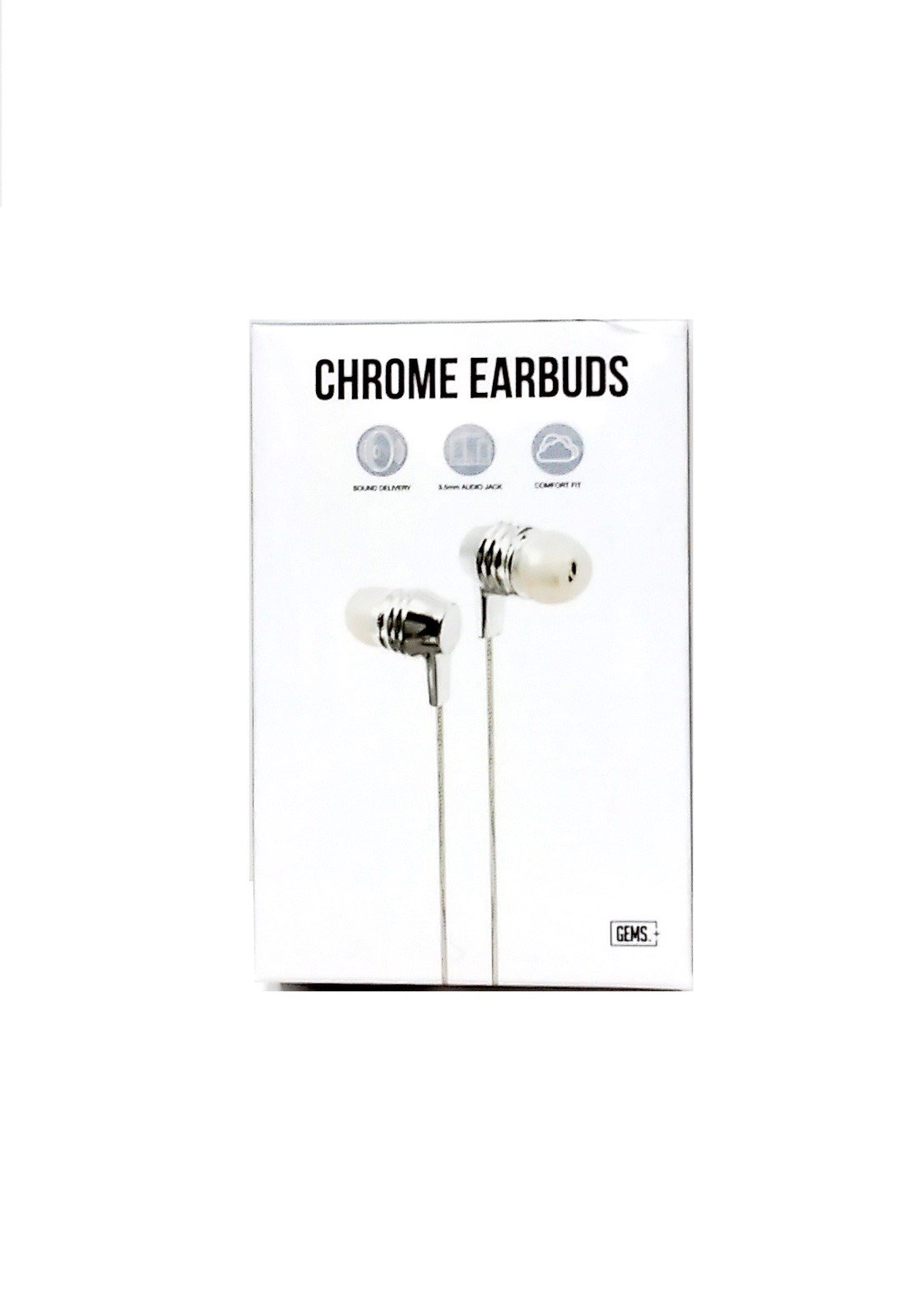 Earbuds Silver Chrome