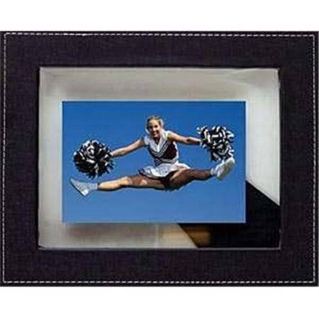 4x6 Leather Floating Frame Green