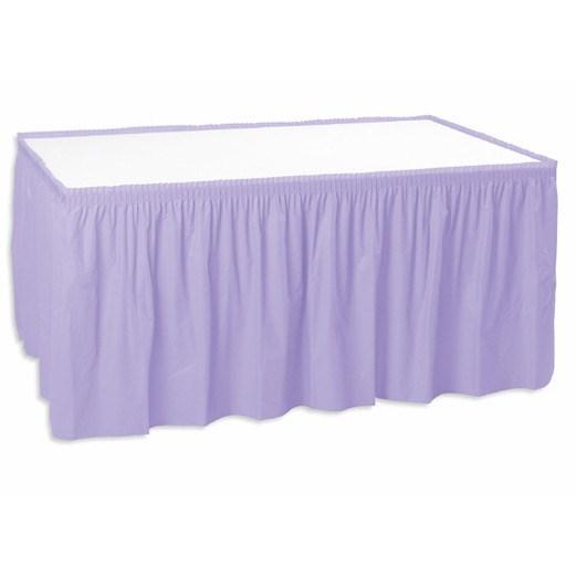 """Table Skirt 29"""" x 12' - Lavender"""