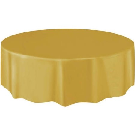 "Round Table Cover 84"" - Gold"