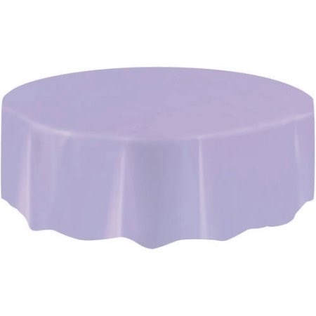 "Round Table Cover 84"" - Lavender"