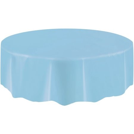 "Round Table Cover 84"" - Light Blue"