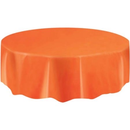 "Round Table Cover 84"" - Orange"