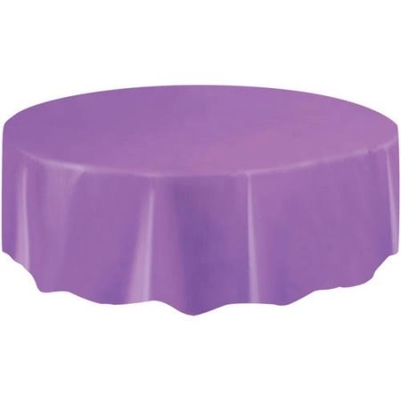 "Round Table Cover 84"" - Purple"