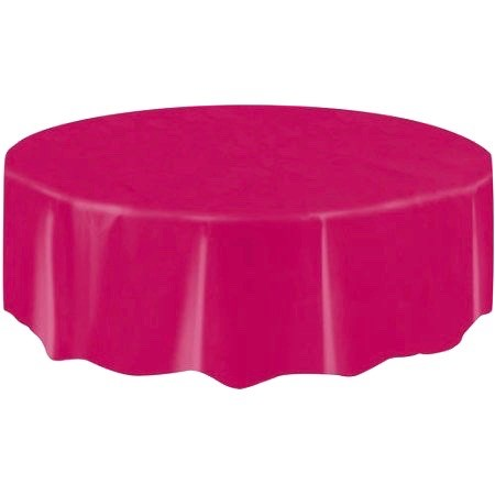 "Round Table Cover 84"" - Rose"