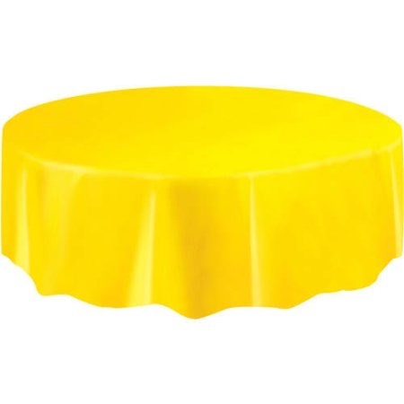 """Round Table Cover 84"""" - Yellow"""