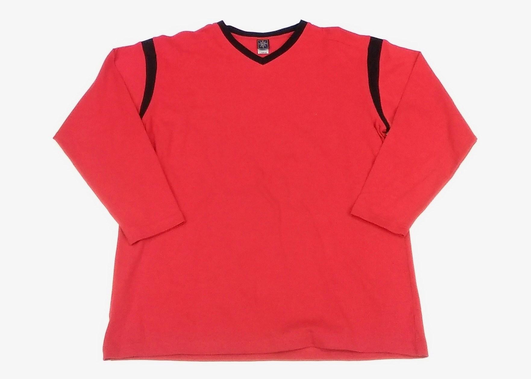 Long Sleeve V-Neck RED