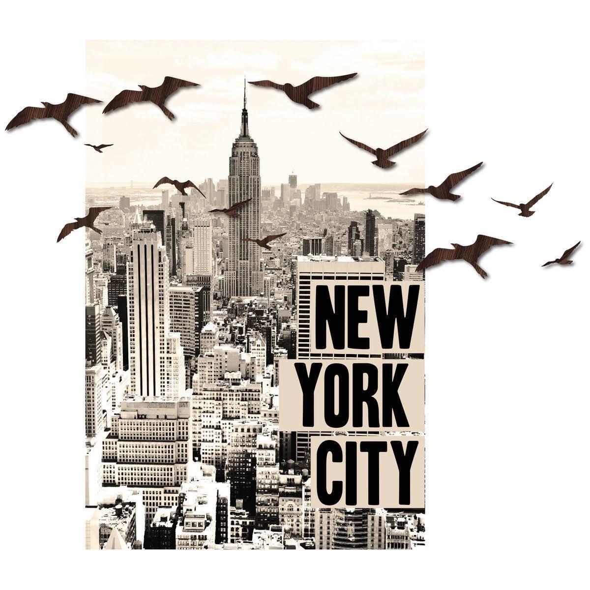3D Peel & Stick New York & Birds